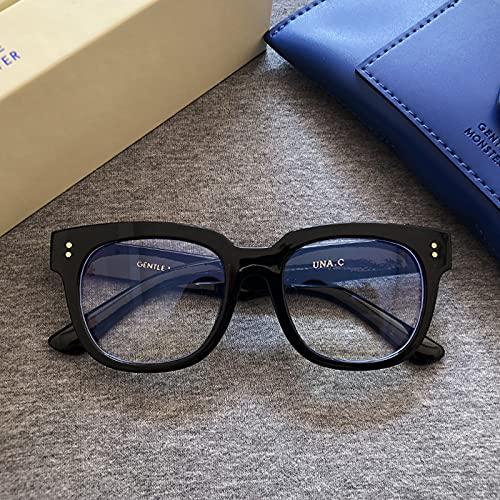 tggh Gafas de sol 2021 GM, gafas de sol Corea, suaves, lisas, gafas de sol monstruo de moda para mujer, antirayos azules, gafas vintage (Color de la lente: paquete de lujo)