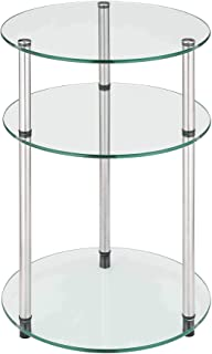 Best clear glass nightstand Reviews