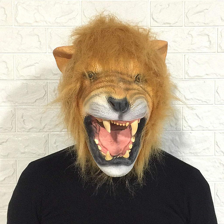 YKQ WS Lion Latex Maske Halloween Tierkopfschmuck Horror Scary Bühne Performance Requisiten B07H6SYMBQ Abgabepreis   | ein guter Ruf in der Welt