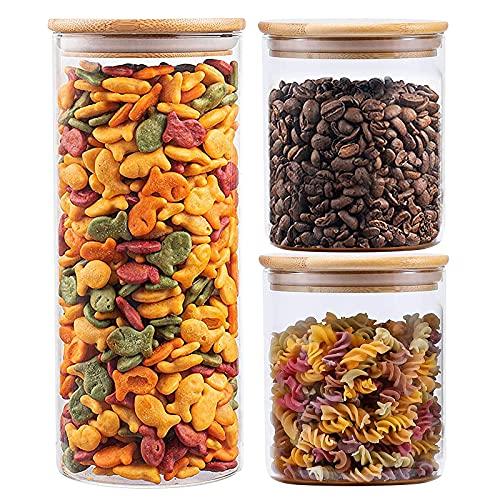 Barattoli di vetro Contenitori Barattoli di conservazione degli alimenti Ermetici per pasta di caffè alimentare, vetro borosilicato 750ml / 450ml