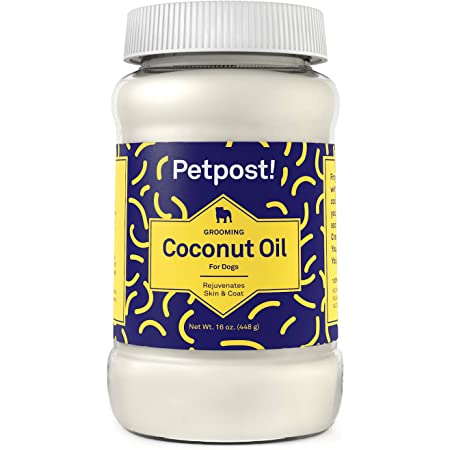 Petpost   Coconut Oil - Hot Spot & Itchy, Dry Skin Moisturizer for Dogs - 100% Virgin Coconut Oil for Skin and Coat