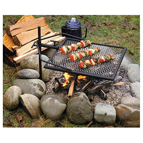 Adjust-A-Grill Camping Grill - Makes Outdoor Cooking Easier and Safer