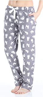 Image of Adorable Cat Pajama Pants for Women - Cotton Flannel