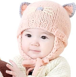 Cute Baby Kids Girls Boys Warm Winter Stretchy Cat Hat Beanie
