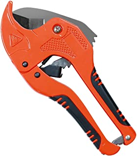 HARVET Ratchet-type PVC Pipe Cutter for Cutting PPR Plastic Hoses and Plumbing Pipes Up to 1-5/8