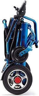 Sillas De Ruedas Electricas Plegable Ligero Aluminio Viajar Compacto Deluxe Silla EléCtrica Andador Movilidad Portátil Bajo Techo Exteriores con Respaldo