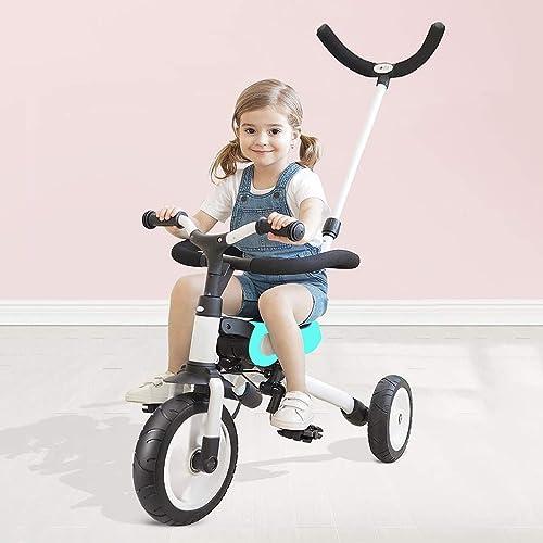 El ultimo 2018 Relubby Triciclo Portátil Portátil Portátil para Niños, Cochecito De Bebé con Estructura De Acero De Alto Carbono, Arnés De Seguridad Ligero Diseño De Absorción De Choque,verde  liquidación hasta el 70%