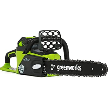 Greenworks G-MAX 40V 16-Inch Cordless Chainsaw, Battery and Charger Not Included 20322