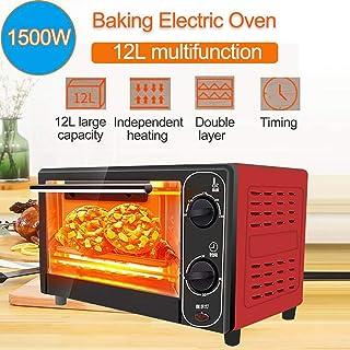 L.TSA Cocina 12L 1500W Mini Horno eléctrico para el hogar, máquina para Hornear Pan de Acero Inoxidable, tostadora de Pan de Cocina para el hogar, máquina para Hacer Pasteles de Pizza, el Tiempo y