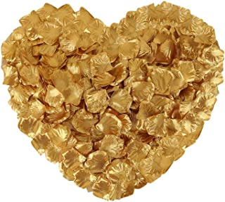 Neo LOONS 1000 Pcs Artificial Silk Rose Petals Decoration Wedding Party Color Gold