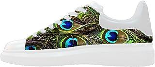 Daniel Turnai Fan Custom Women`s Shoes Peacock Feathers New Sneaker Canvas Thick Bottom