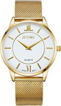 JETIME Rose-Gold and Stainless Steel Waterproof Watch-Golden Color