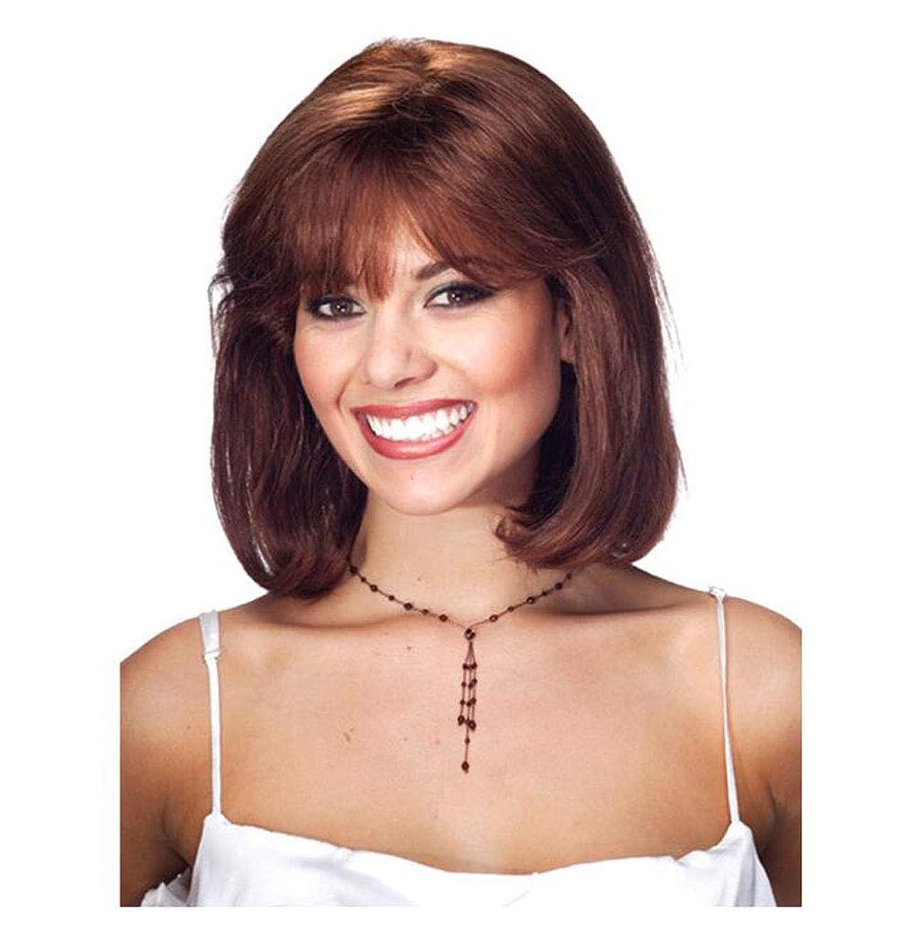 一口感情公女性のための前髪の短い波状の縮れ毛ヘアピースウィッグ - 日常やコスチュームパーティーのためのナチュラルな外観と耐熱性の完全な頭髪の交換