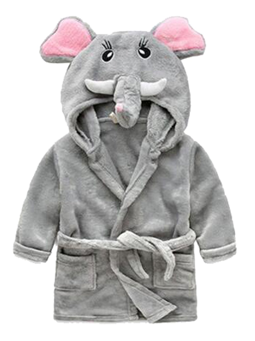 Image of Gray Elephant Robe For Toddler Boys - See More Animal Robes