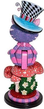 Kurt S. Adler HA0573 Hollywood Cheshire Cat Nutcracker, Multi-Colored