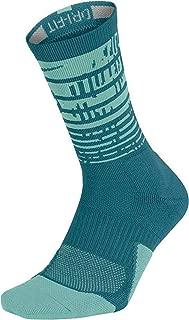 Nike Dri-Fit Elite 1.5 Pulse Crew Basketball Socks-Teal-Medium