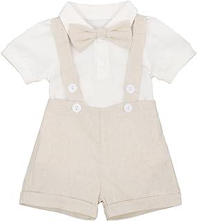 Puseky 2pcs//set Baby Boy Toddler WILD ONE Birthday Sleeveless Top Shorts Outfits Set