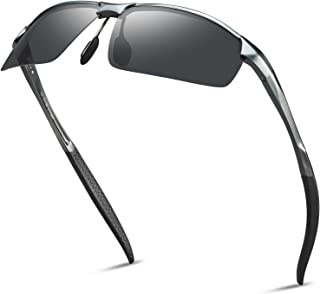 SOXICK Men's Sports Polarized Sunglasses - Fashion UV Protection Rectangular Half Frame Sun Glasses