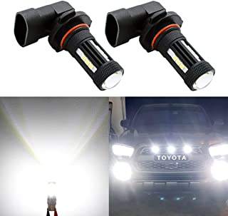 9145 9140 H10 LED Fog Lights Bulbs,3000LM Extremely Bright LED Fog Light Bulb, 6000k White With Projector,360° Beam Angle Lifetime Support