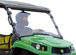 SuperATV Heavy Duty Scratch Resistant Full Windshield for John Deere Gator XUV 550 560 S4 590i (See Fitment For Compatible Years) - Installs in 5 Minutes!