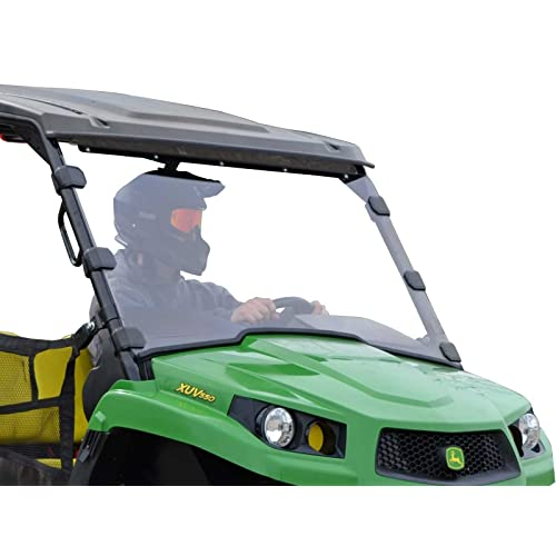 SuperATV Heavy Duty Scratch Resistant Full Windshield for John Deere Gator XUV 550 560 S4 570