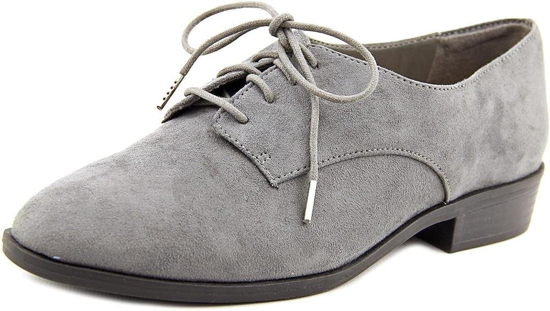 Bar III kvinnor Gelsey Almond Toe Oxfords, grå, Storlek 9.0