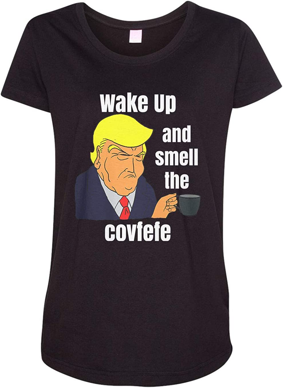 HARD EDGE DESIGN Women's Wake up and Smell The Covfefe T-Shirt