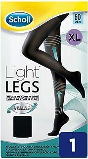 Scholl Medias de Compresión Ligera Mujer Light Legs 60DEN, Color Negro, XL