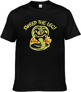 メンズ 人気 Tシャツ 半袖 おしゃれ 無地 薄手 綿 夏 Sweep The Leg Cobra-Kai