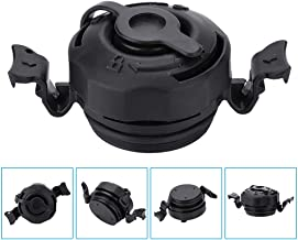 Delaman Air Valve 3 in 1 Inflatable Air Valve Secure Seal Cap Air Valve Caps Plugs Replacement for Intex Inflatable Airbed Mattress, Black