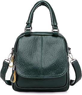 SWECOMZE Frauen Rucksack PU Leder Rucksack Schultertasche Handtasche Damen Multifunktionsbeutel für Arbeit, Schule und Lässige täglich