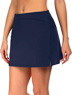ADOME Women's Athletic Skort Tennis Skirt with Pockets Shorts Active Golf Running Workout Sports
