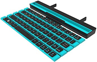 Syfinee Foldable Bluetooth Keyboard Wireless Rollable Ultra-Thin, Ultra-Light with Holder Universal for PC Tablet Smart Phones