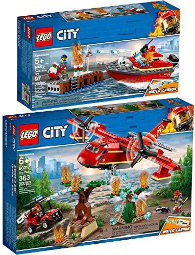 LEGO® City 2er Set 60213 60217 Feuerwehr am Hafen + Löschflugzeug der Feuerwehr