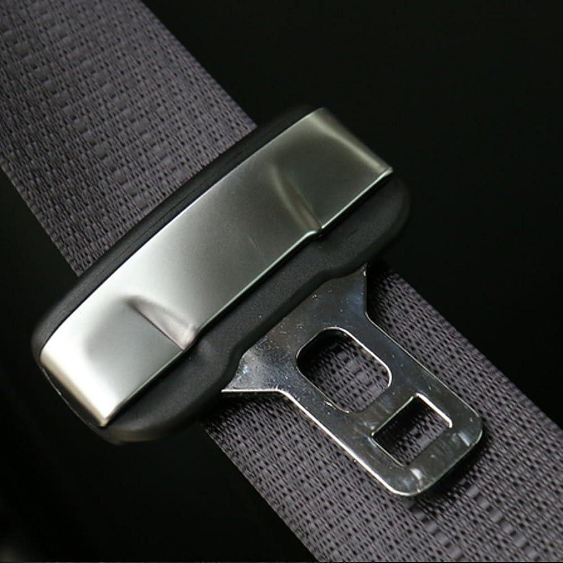 余暇活気づけるトリッキーJicorzo - 2pcs Car Seat Belt Buckle Trim Clasp Insert Clip Cover Interior Styling Protection Fit for Jeep Cherokee 14-16