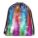 Alritz Mermaid Sequin Drawstring Bags...