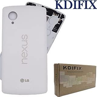 KDIFIX Back Cover Battery Door Housing Case Replacement- LG Google Nexus 5 D820 D821 (White)