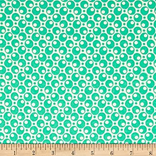 Marcus Brothers 0558672 Judie Rothermel Aunt Grace Basket of Scraps Aqua Fabric by The Yard