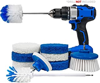 RotoScrub 10-Pc All-in-One Home Cleaning Drill Accessory...