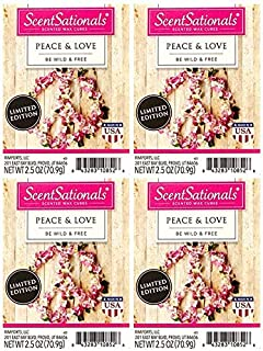 ScentSationals Peace and Love Wax Cubes - 4-Pack
