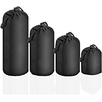 Electomania Camera Lens case Pouch Protective Neoprene is Suitable for DSLR Camera Lenses.Pack of 4