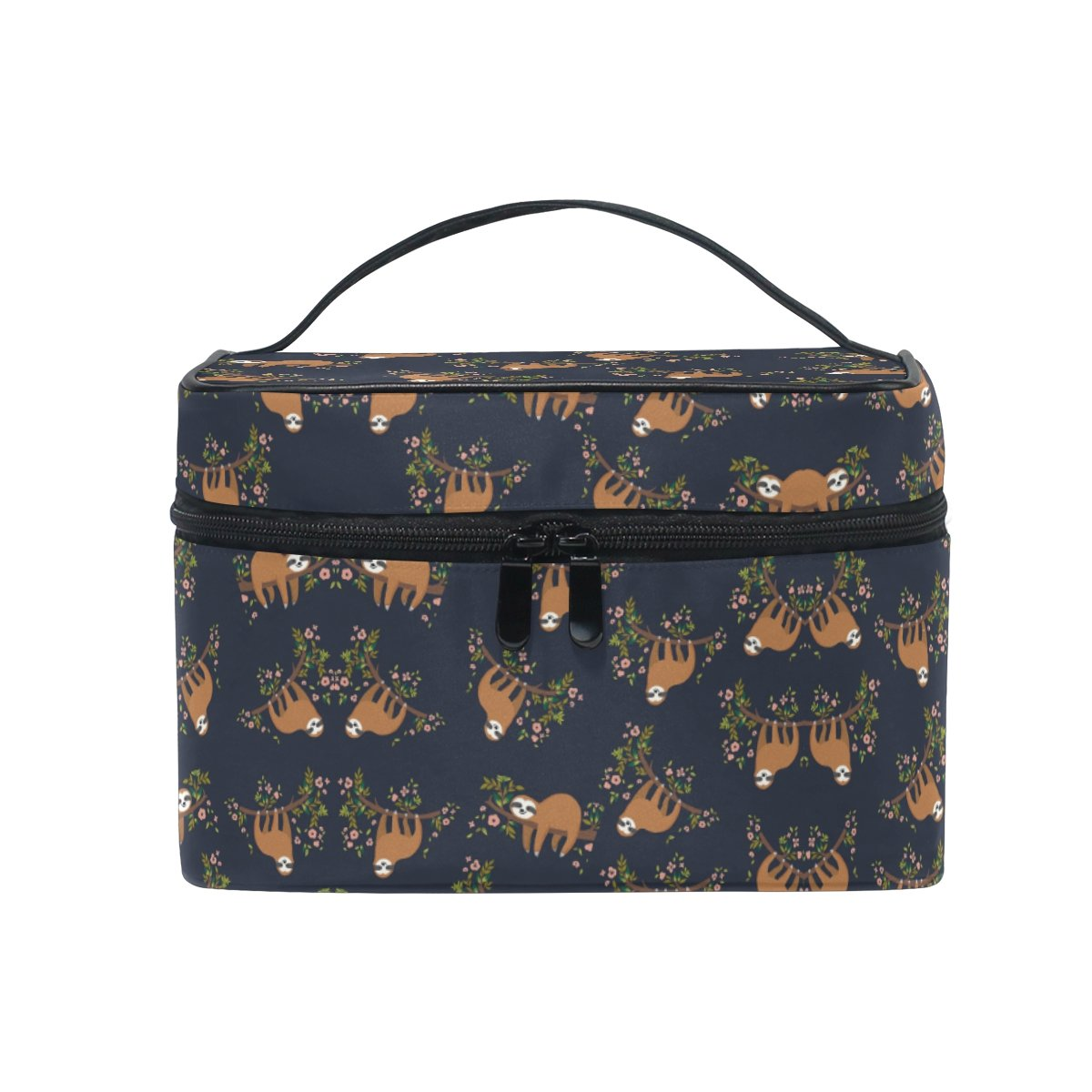 Finally resale start Makeup Bag Flower Sloth Travel Cosmetic Cas Max 50% OFF Bags Train Organizer