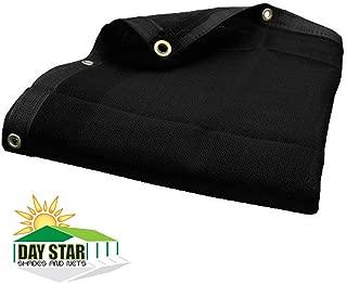 DAY STAR SHADES 7X16 (Black) HD Mesh Tarp Net Sun Shade Fence Screen Patio Canopy Top