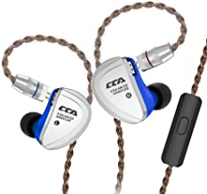 CCA C16 in-Ear Monitors, 8 Balanced Armatures Units per Side Customized HiFi IEM Wired Earphones/Earbuds/Headphones with Detachable Cable 2Pin for Musician Audiophile (Blue with mic)