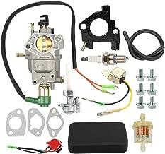 Coolwind 16100-Z5R-743 Carburetor with Air Filter Tune Up Kit for Honda GX340 GX390 13HP 14HP Chinese 182F 188F 190F Generator Generac GP5000 GP5500 GP6500 GP6500E 5KW 5.5KW 6.5KW