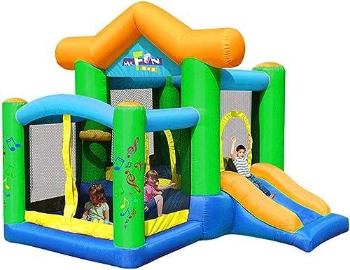 Hüpfürgen Home Kinderaufblasbarer Park Outdoor Kindertrampolin Indoor Junge mädchen Rutsche Kinderspielplatz (Farbe   Grün, Größe   250  270  220cm)