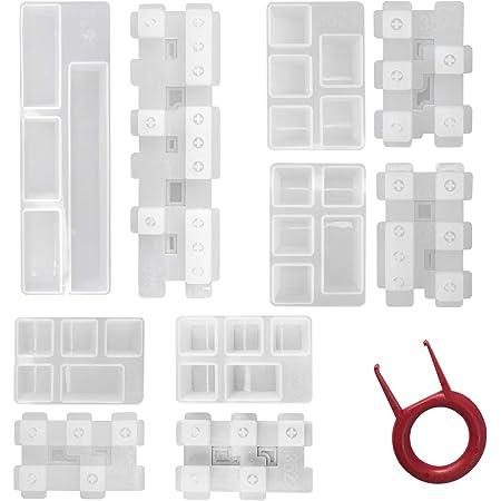 AHMI Teclas de silicona con forma de silicona para moldear la resina, molde para teclado DIY de silicona, molde de resina epoxi, resina de moho, kit ...