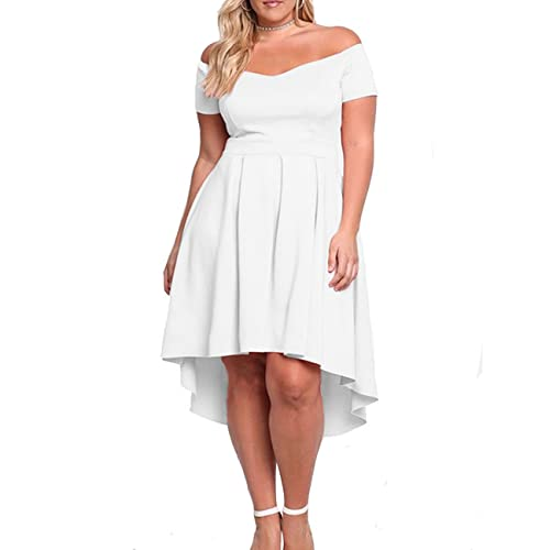 Off The Shoulders White Plus Size Dress: Amazon.com