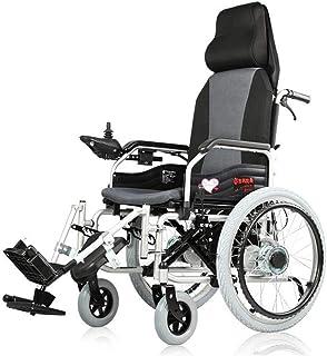 DSHUJC Sillas de Ruedas eléctricas, Silla de Ruedas eléctrica Ancianos Coche para discapacitados Ancianos Scooter de Cuatro Ruedas Inteligente Completamente acostado Scooter portátil Auto