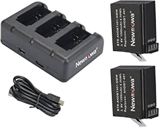 GoPro HERO4 バッテリー2個+USBバッテリーチャージャー スリムデュアル充電器 バッテリー2個同時急速充電が可能